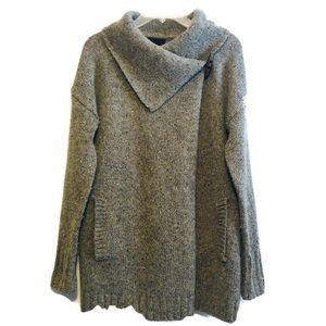 Cynthia Rowley Wool Sweater | Gray Wool Tunic